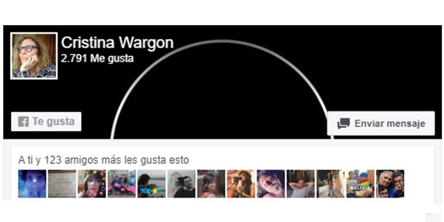 Cristina Wargon en Facebook