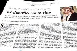 Cristina Wargon y su Taller de Humor en Capital Federal